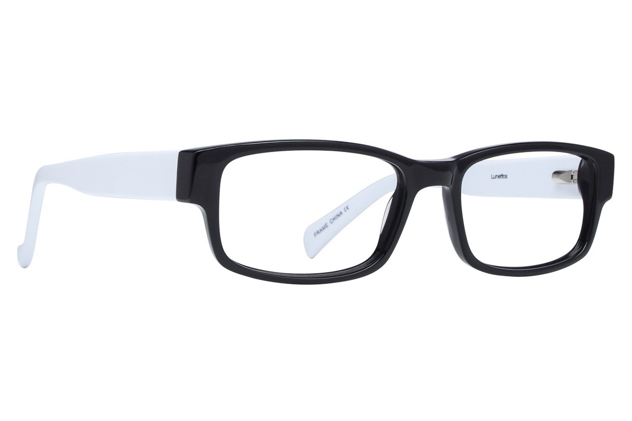 Lunettos Clark White Eyeglasses