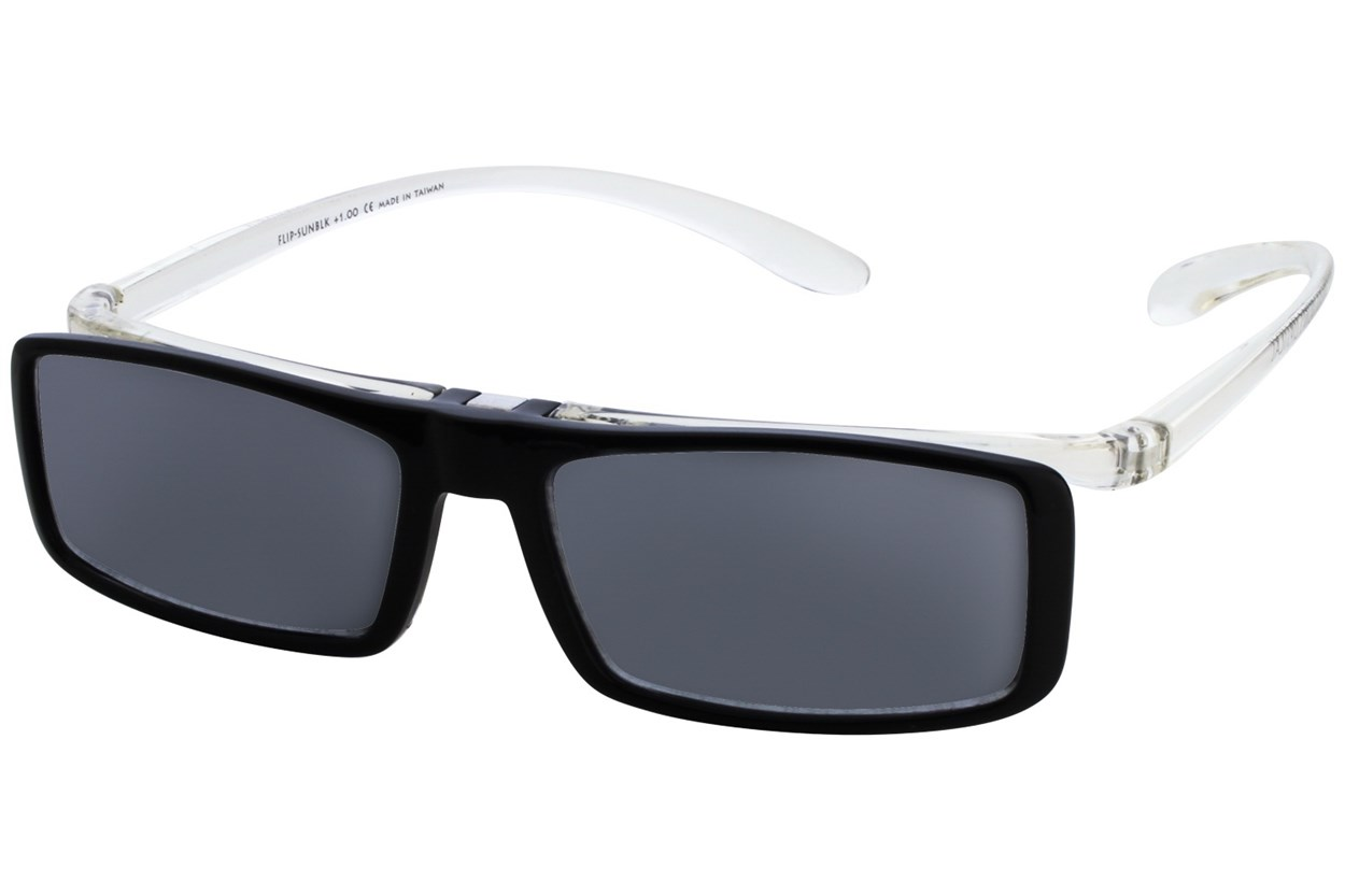 Alternate Image 1 - I Heart Eyewear Flip-Up Reading Sunglasses Black ReadingGlasses