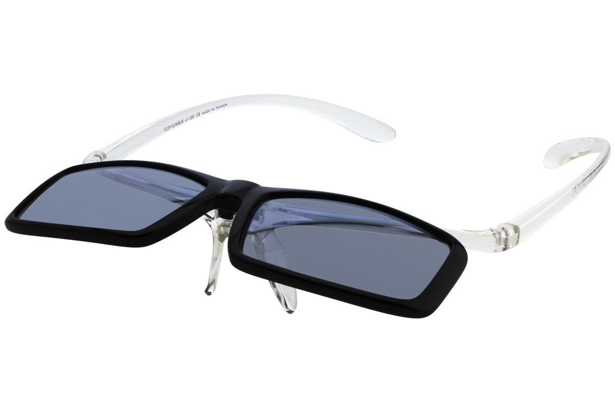 Alternate Image 2 - I Heart Eyewear Flip-Up Reading Sunglasses Black ReadingGlasses