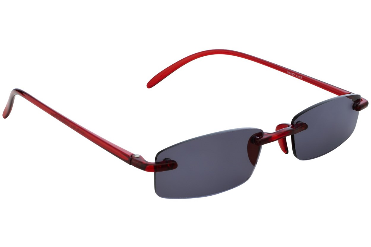 Alternate Image 1 - I Heart Eyewear Twisted Sun Specs ReadingGlasses - Red