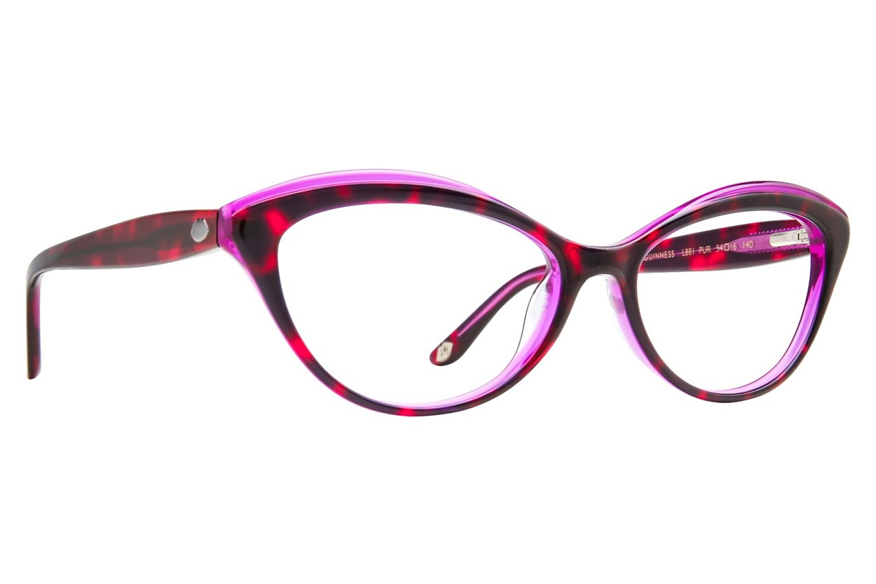 Lulu Guinness L881 Purple Eyeglasses