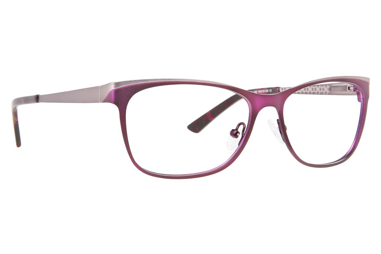 Ann Taylor AT101 Eyeglasses - Purple