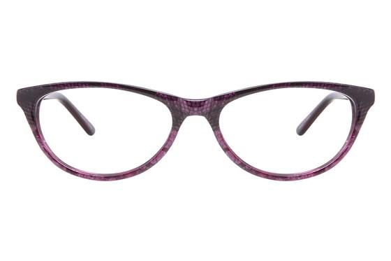 Nicole Miller Bedford Purple Eyeglasses