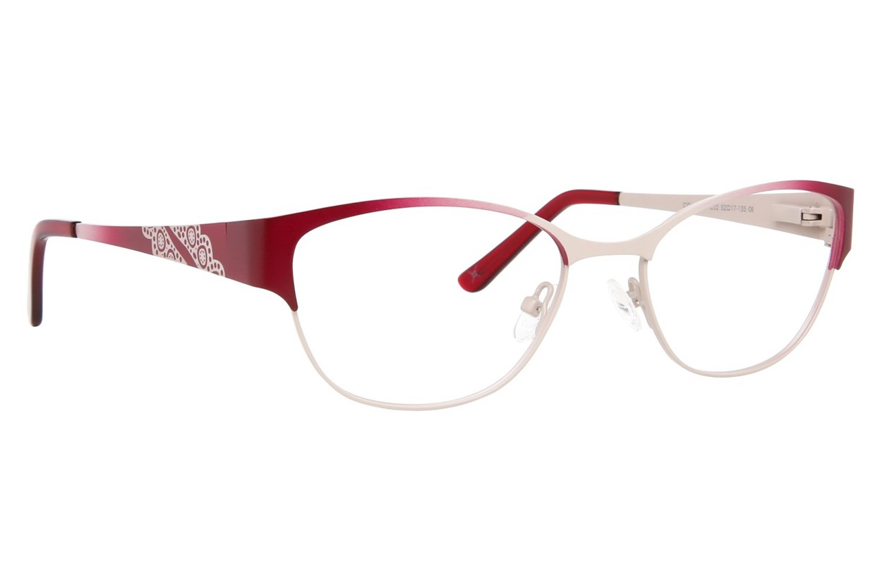 Nicole Miller Columbia Red Eyeglasses