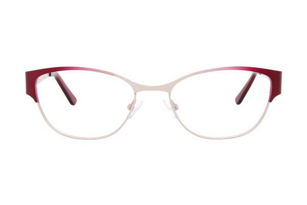 Nicole Miller Columbia Red Eyeglasses