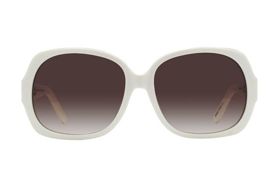 Lunettos Jean White Sunglasses