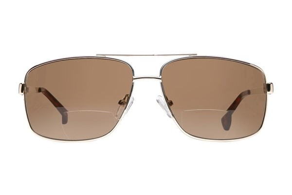 Cafe Readers 935 Bifocal Reading Sunglasses Gold ReadingGlasses