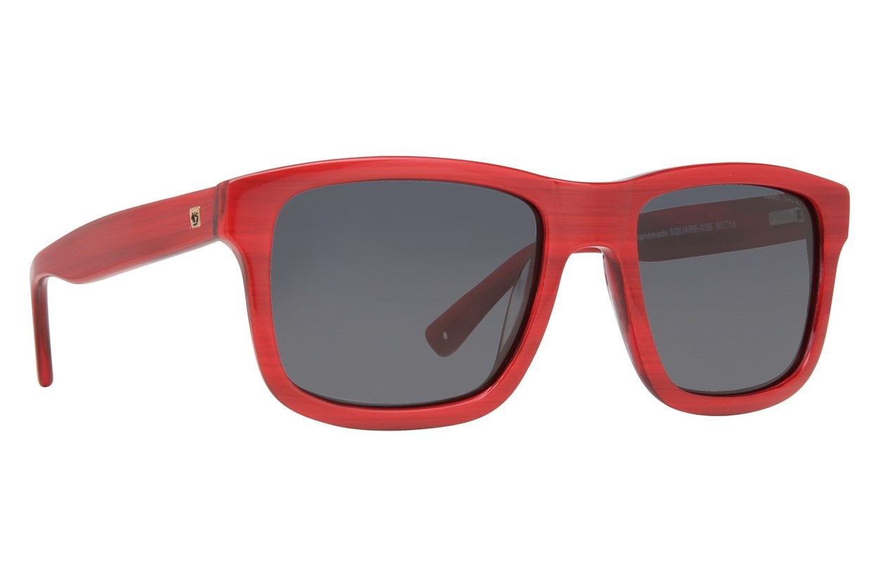 Zoobug Square (Age 6-12) Red Sunglasses