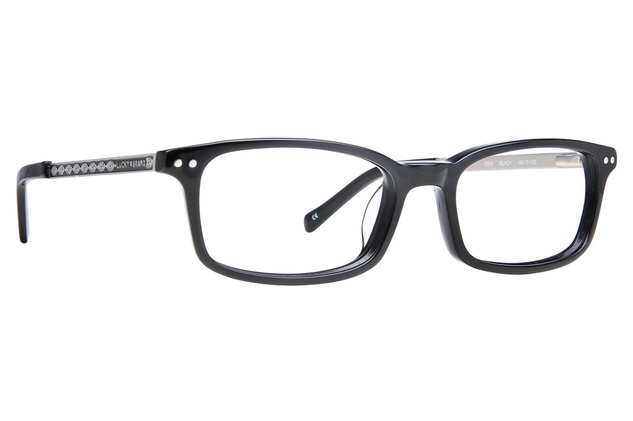 Lucky D800 Black Eyeglasses