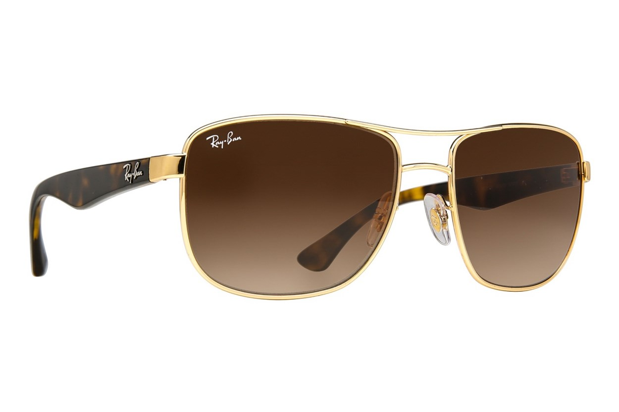 Ray-Ban® RB3533 Gold Sunglasses