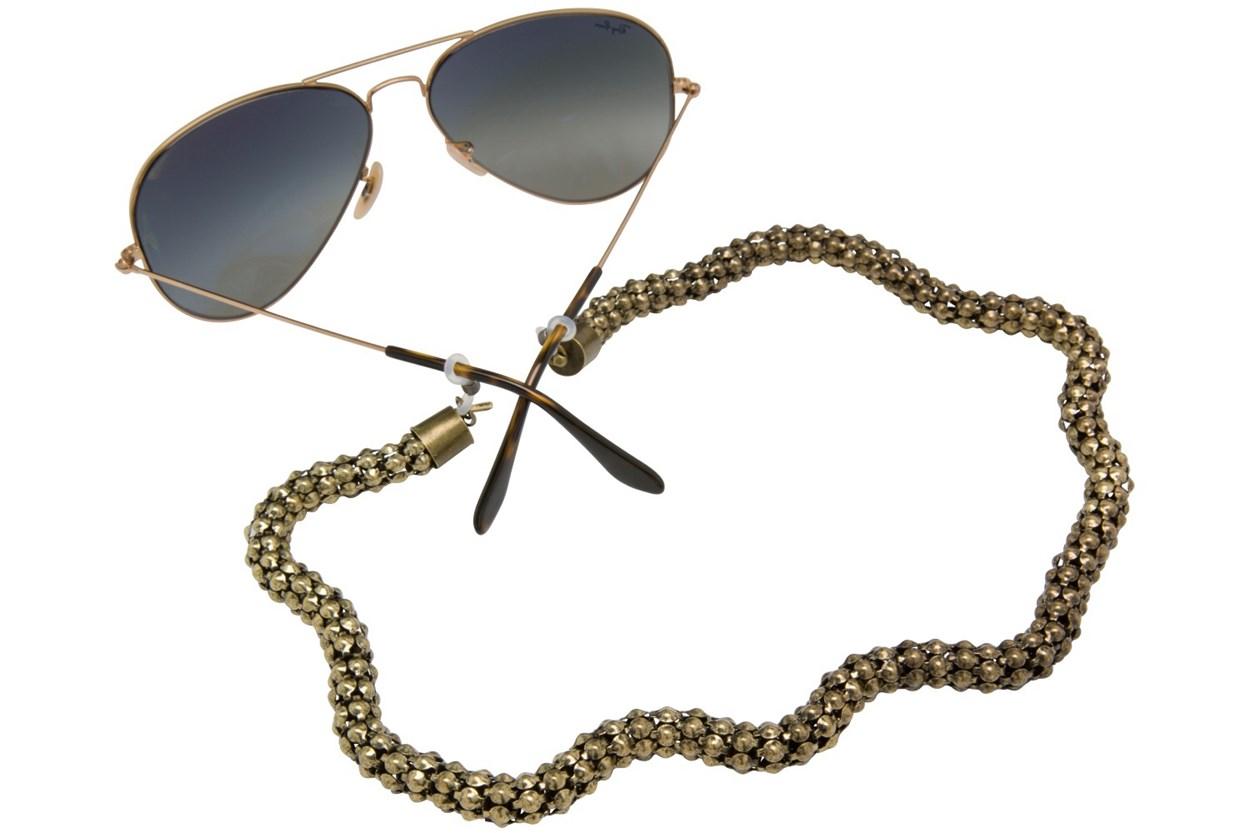Sintillia Wide Glow Chain Strap Gold GlassesChainsStraps