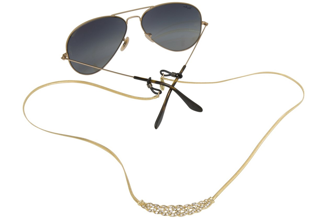 Sintillia Crystal Backlace Strap Gold GlassesChainsStraps