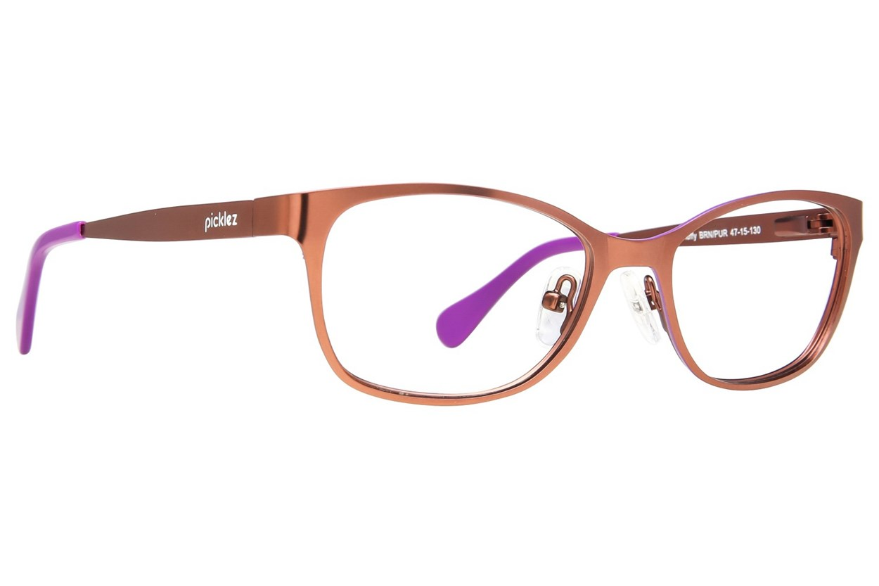 Picklez Fluffy Brown Eyeglasses