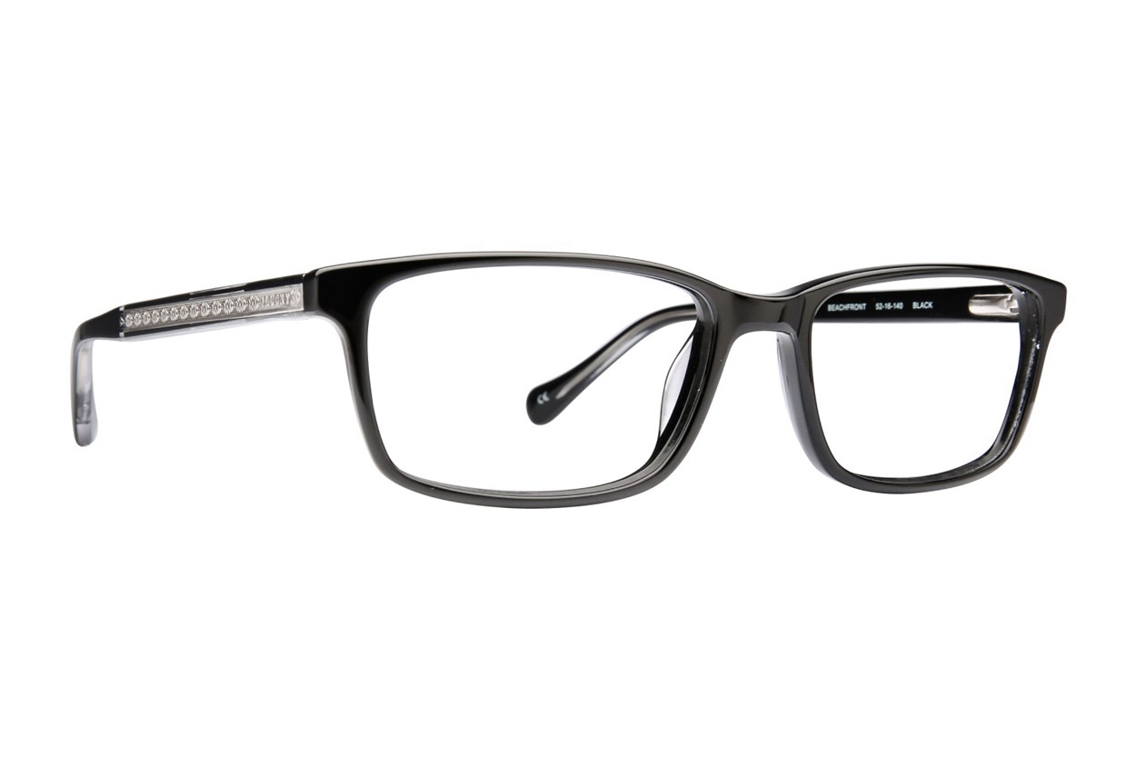 Lucky Beach Front Eyeglasses - Black