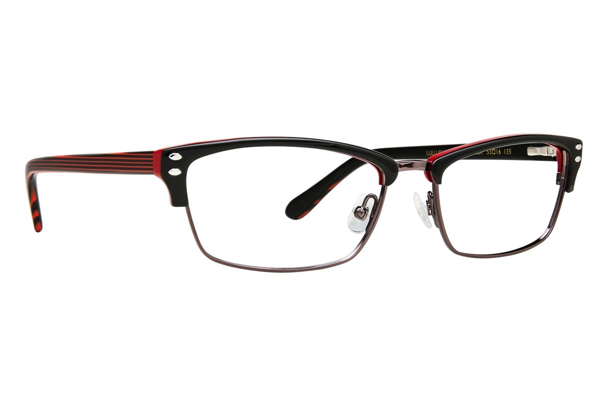 Lulu Guinness L771 Black Eyeglasses