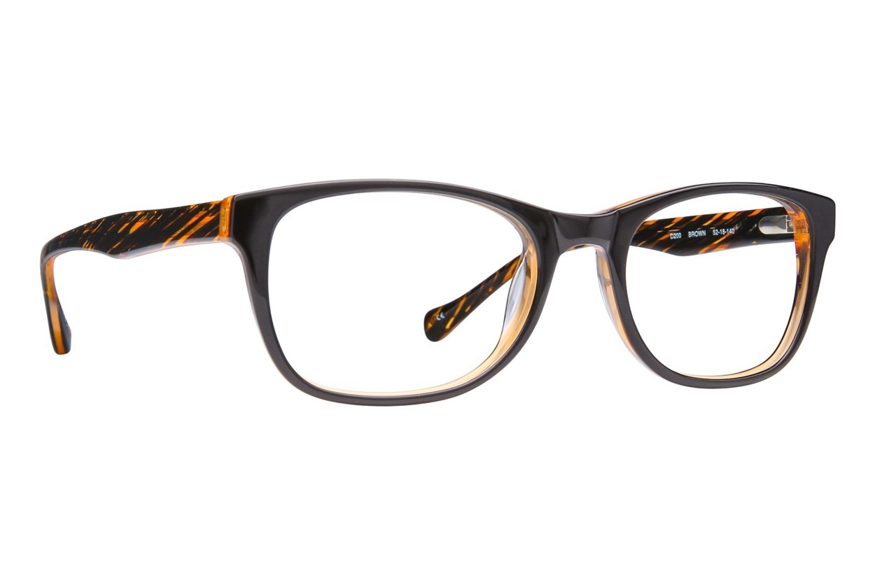 Lucky D200 Brown Eyeglasses