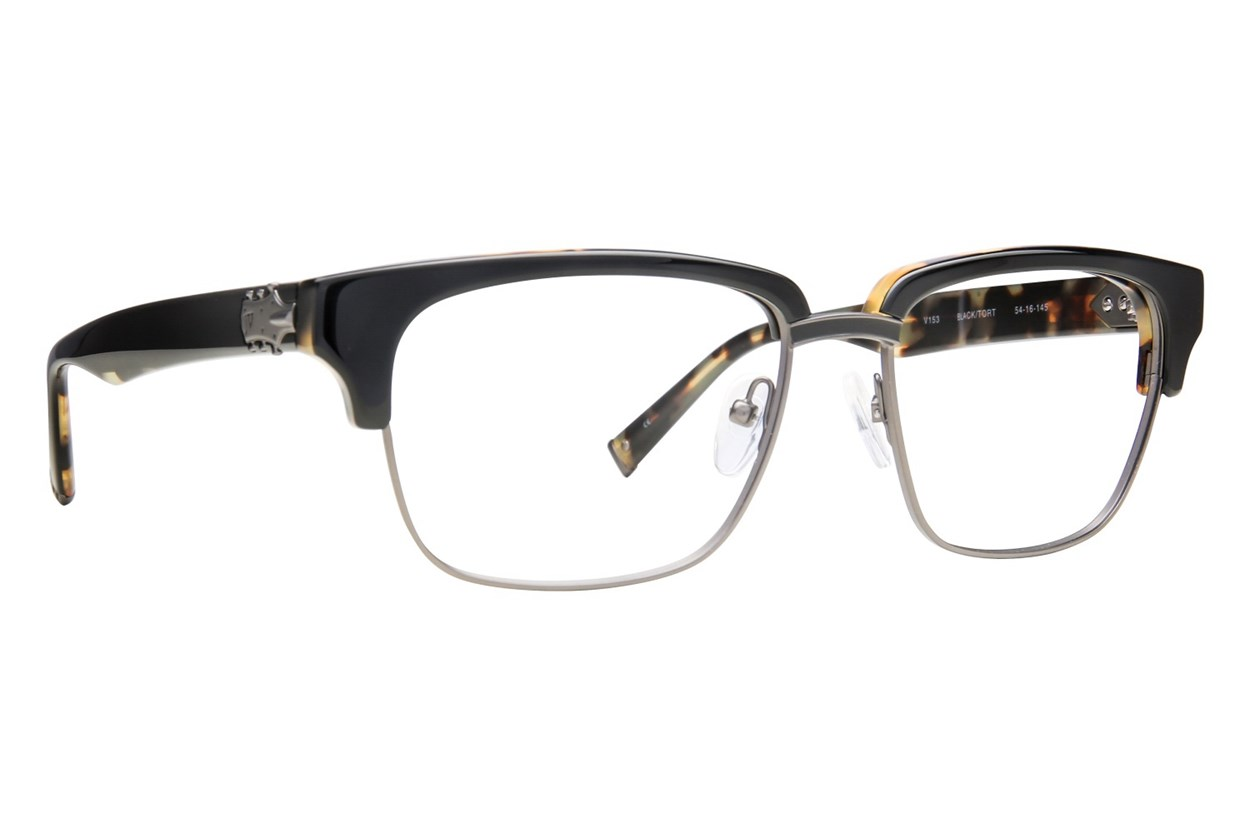 John Varvatos V153 Black Eyeglasses