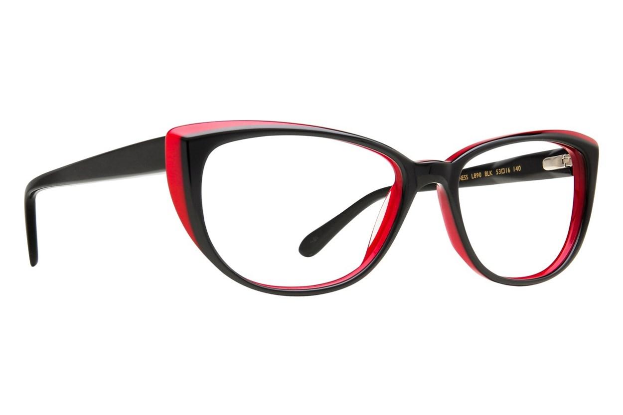 Lulu Guinness L890 Black Eyeglasses