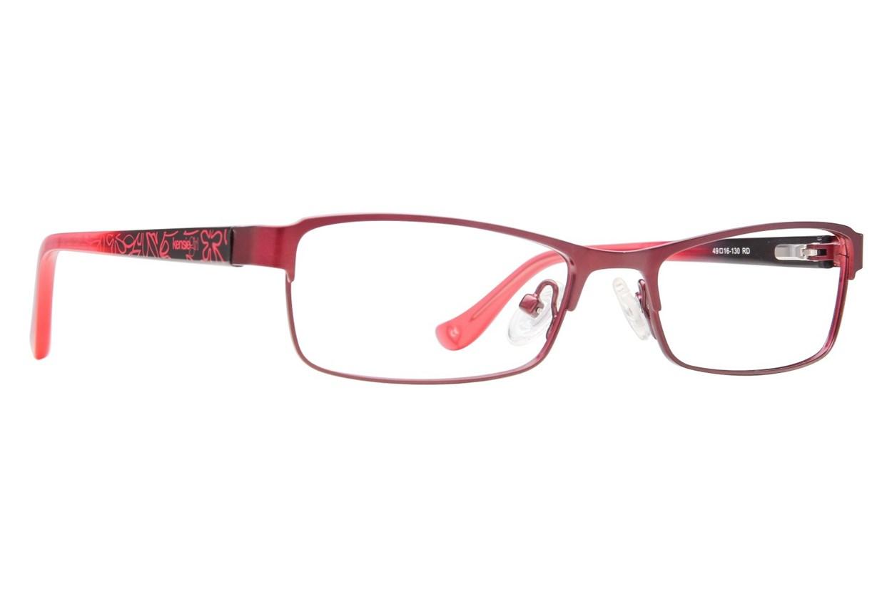 Kensie Girl Bright Red Eyeglasses