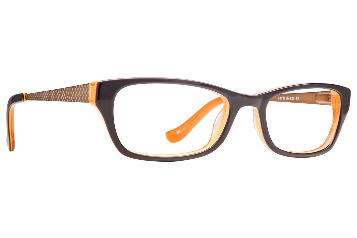 Kensie Girl Painter Brown Eyeglasses