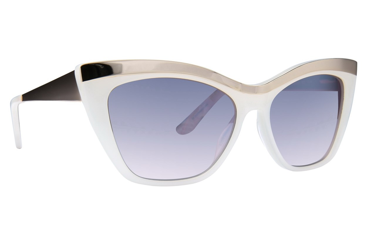 L.A.M.B. By Gwen Stefani LA507 White Sunglasses