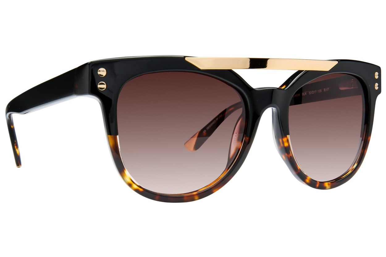 L.A.M.B. By Gwen Stefani LA508 Black Sunglasses
