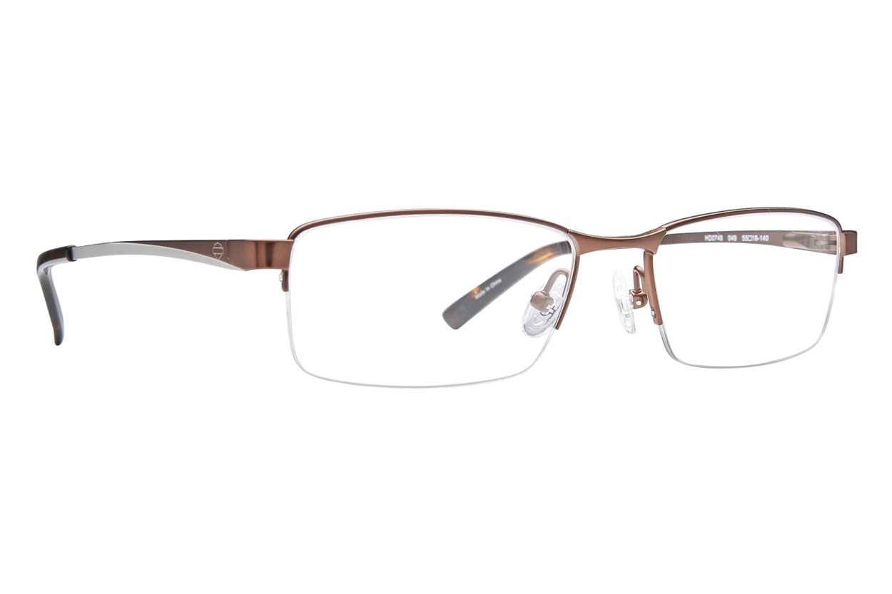 Harley Davidson HD 748 Brown Eyeglasses