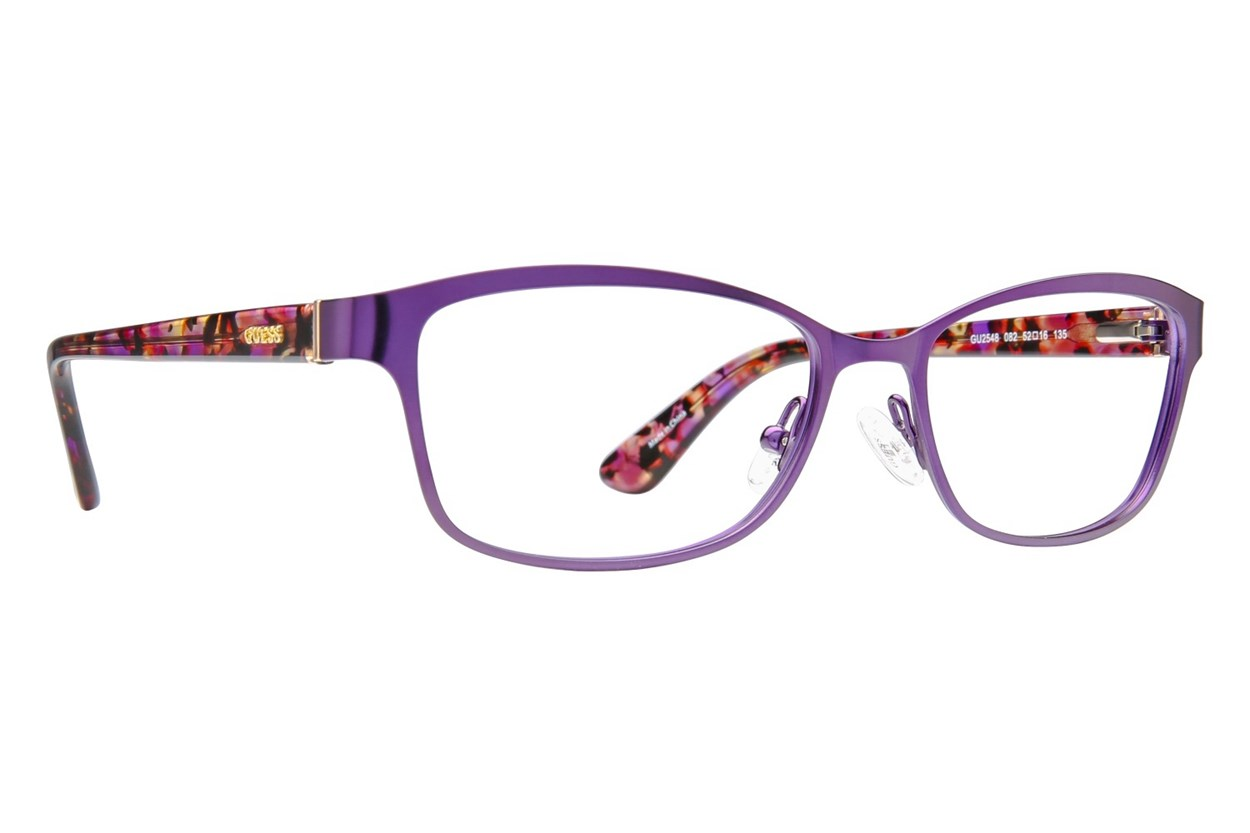 GUESS GU 2548 Purple Eyeglasses