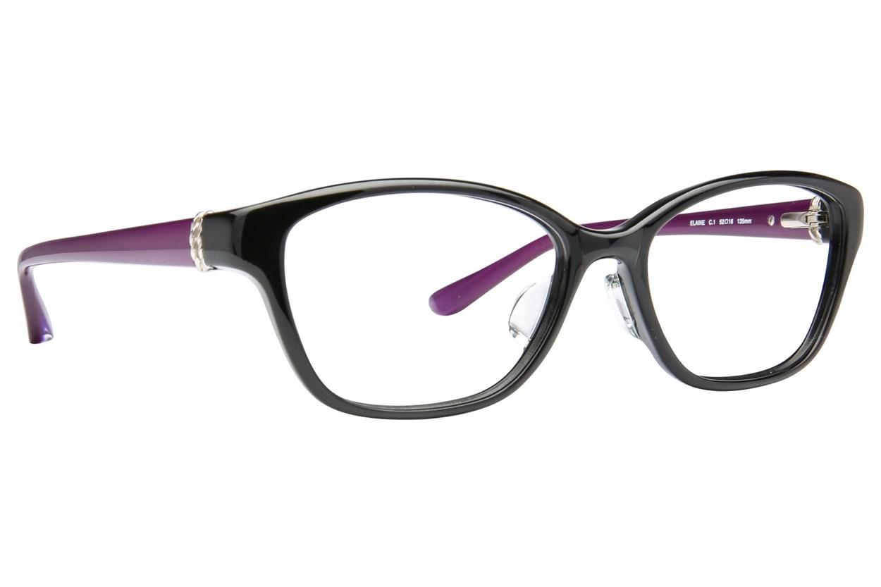 TC Charton Elaine Black Eyeglasses