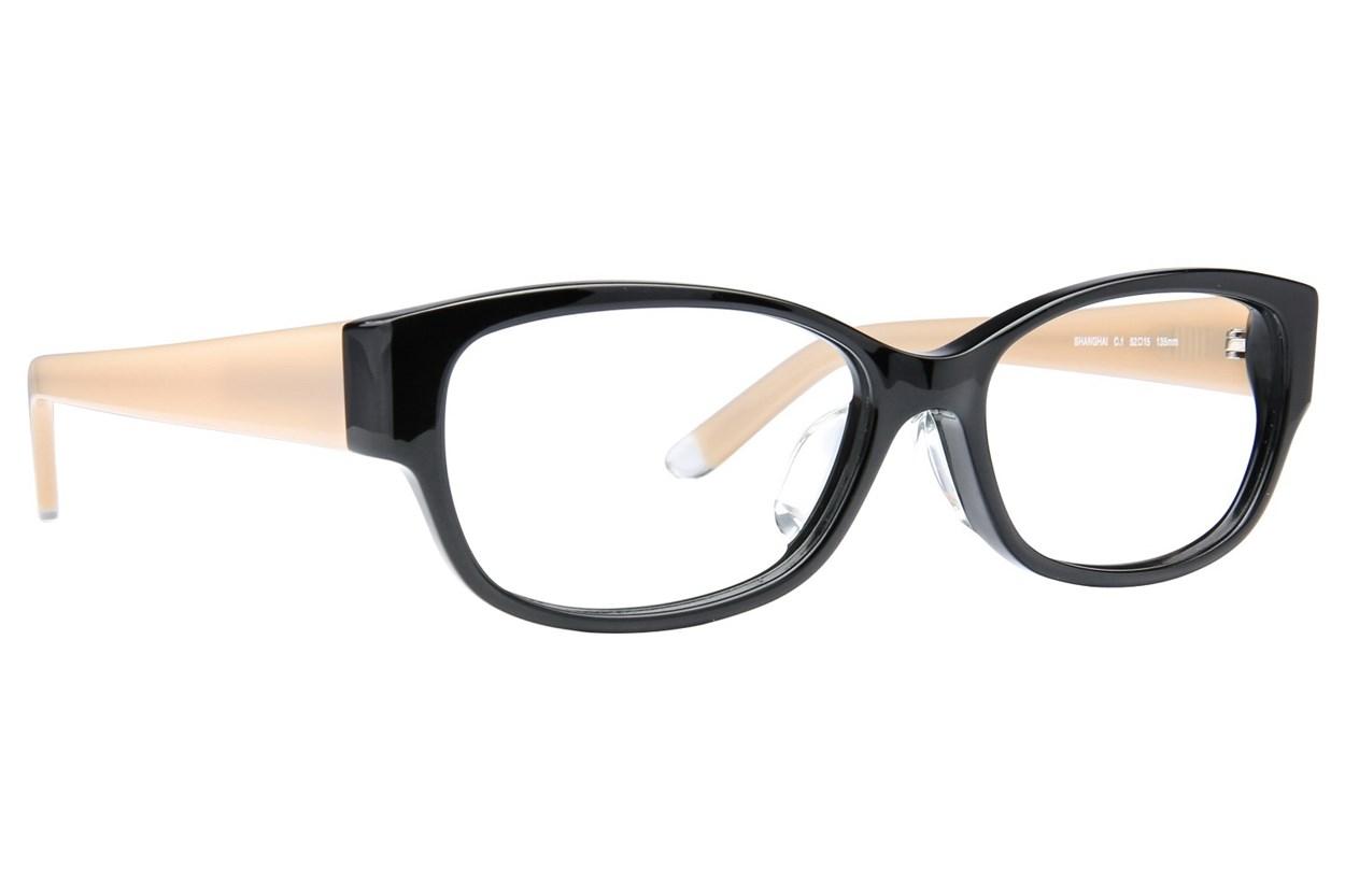 TC-Fit Shanghai Black Eyeglasses
