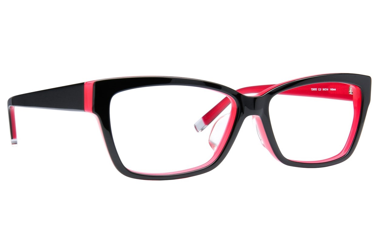 TC-Fit Tokyo Black Eyeglasses
