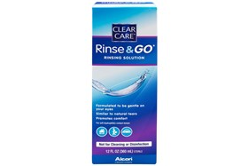 Clear Care Rinse & Go ( 12 fl. oz.)