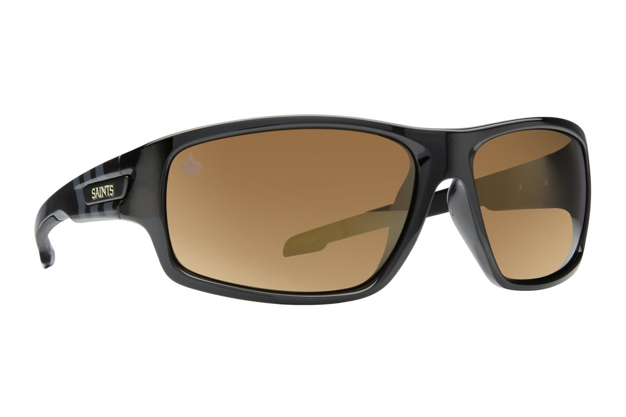 NFL New Orleans Saints Catch Style Black Sunglasses