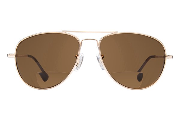Peepers Ice Man Reading Sunglasses Gold ReadingGlasses