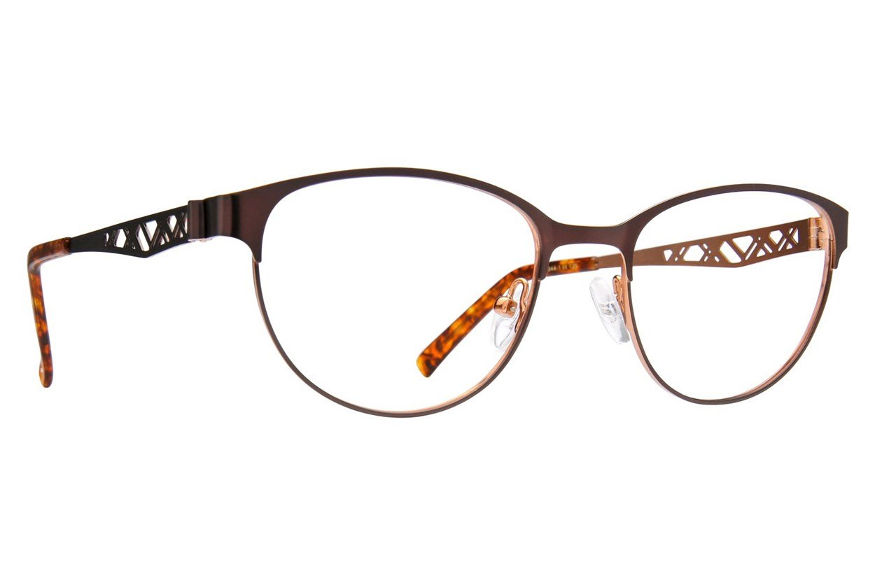 Jill Stuart JS 344 Brown Eyeglasses