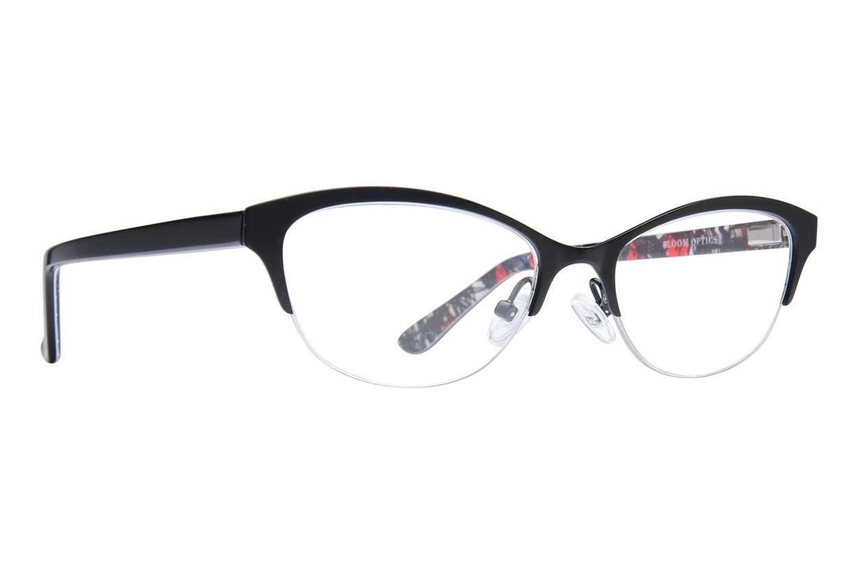 Bloom Optics Petite Rosa Black Eyeglasses