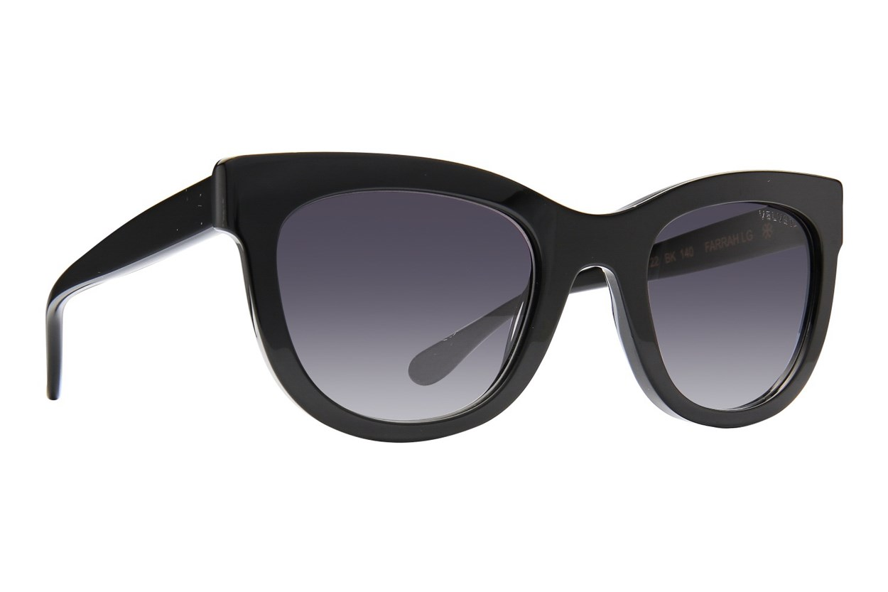 Velvet Eyewear Farrah - Large Sunglasses - Black