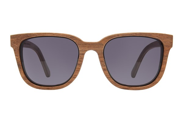 Shwood Prescott Wood Brown Sunglasses