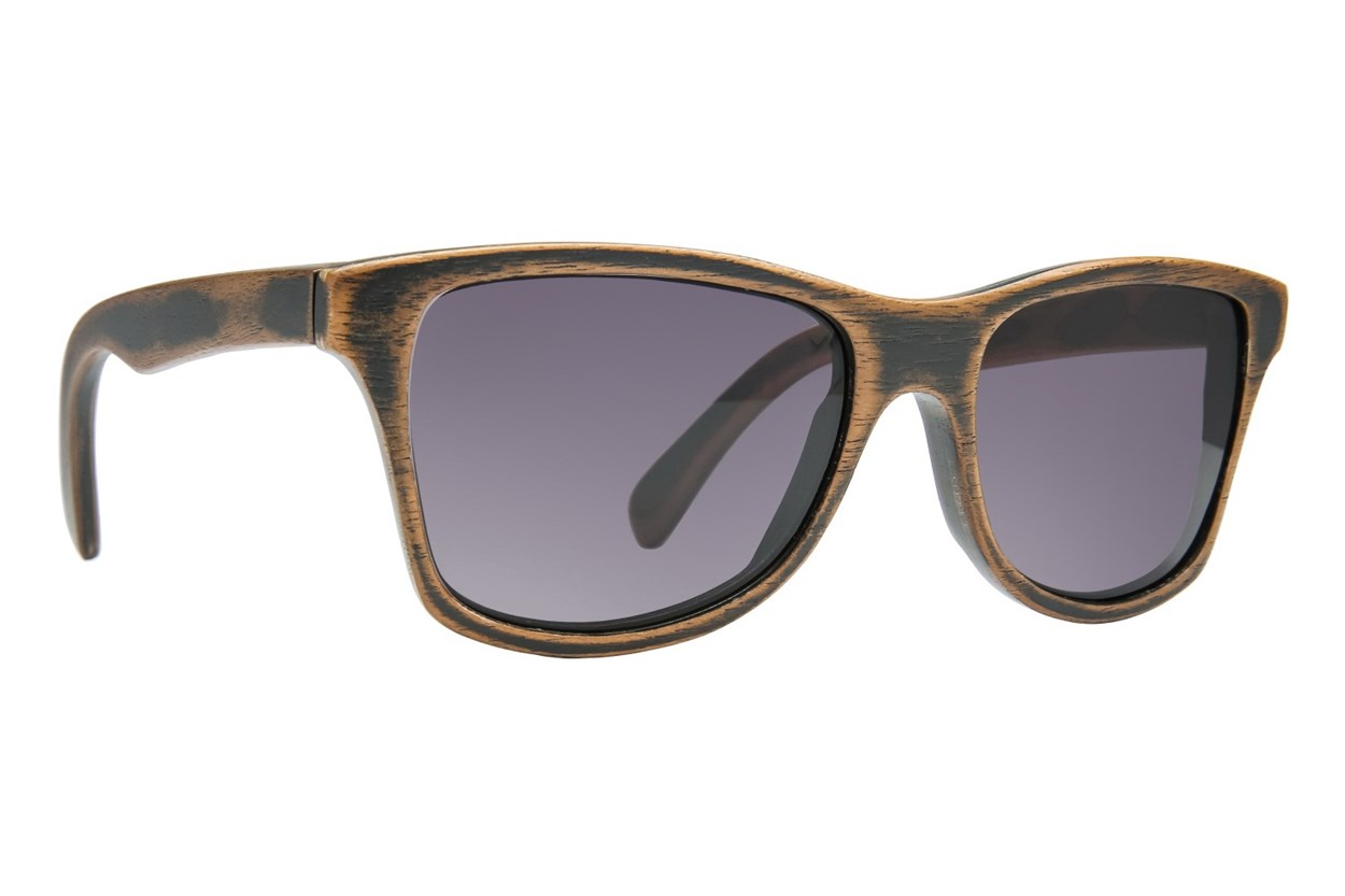Shwood Canby Wood Dark Sunglasses - Brown
