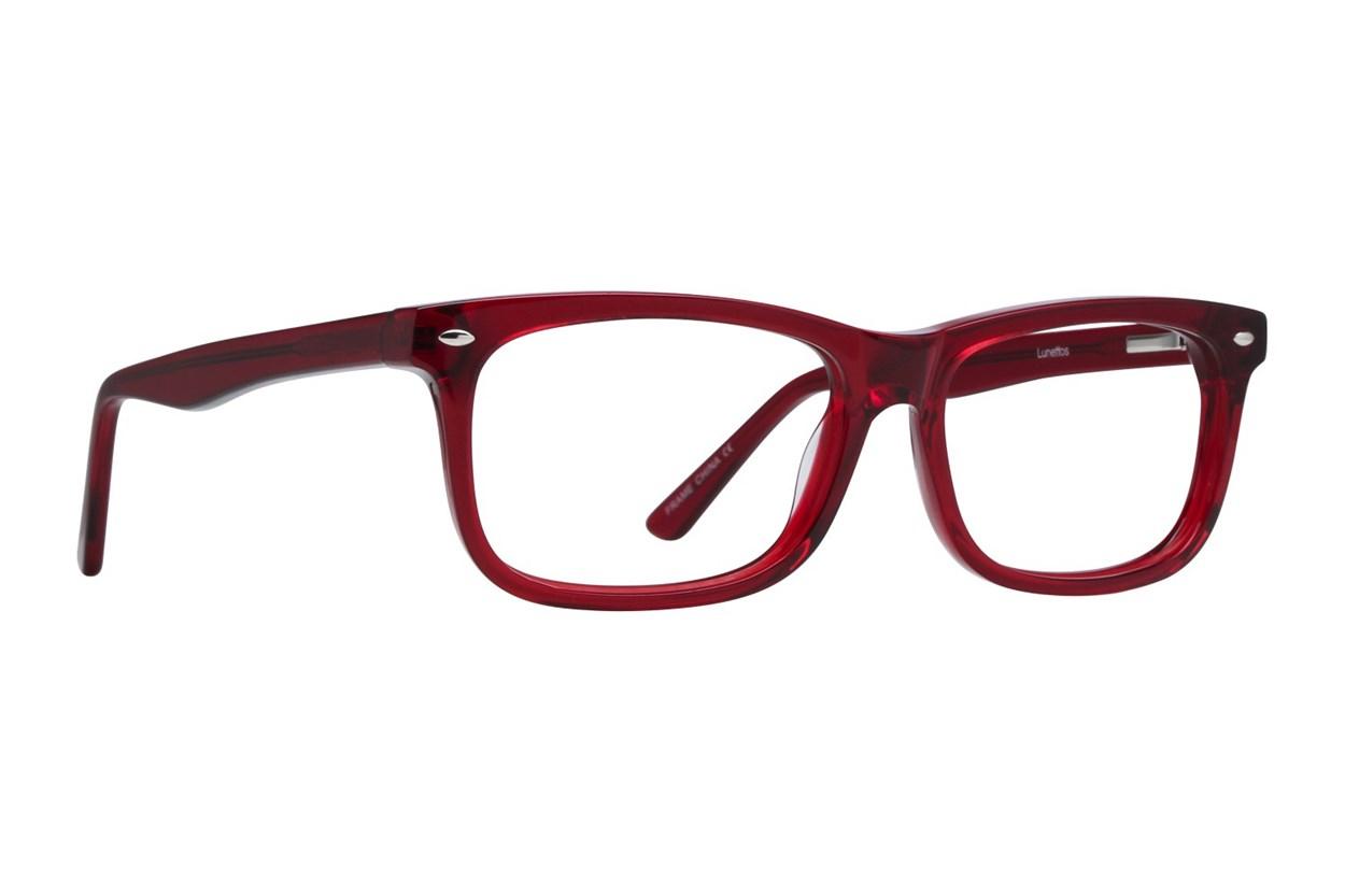 Lunettos Dylan Red Eyeglasses