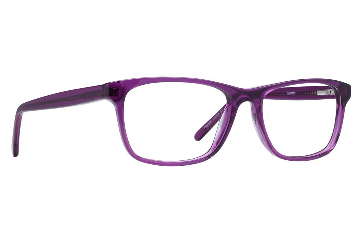 Lunettos Kyle Purple Eyeglasses