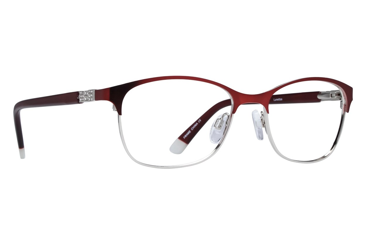 Lunettos Riley Red Eyeglasses