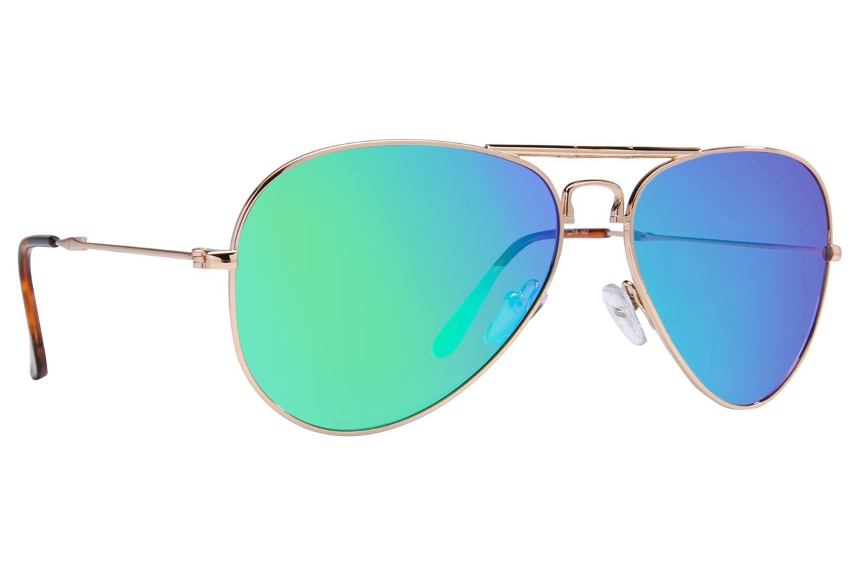 Eyefolds The Ace Gold Sunglasses