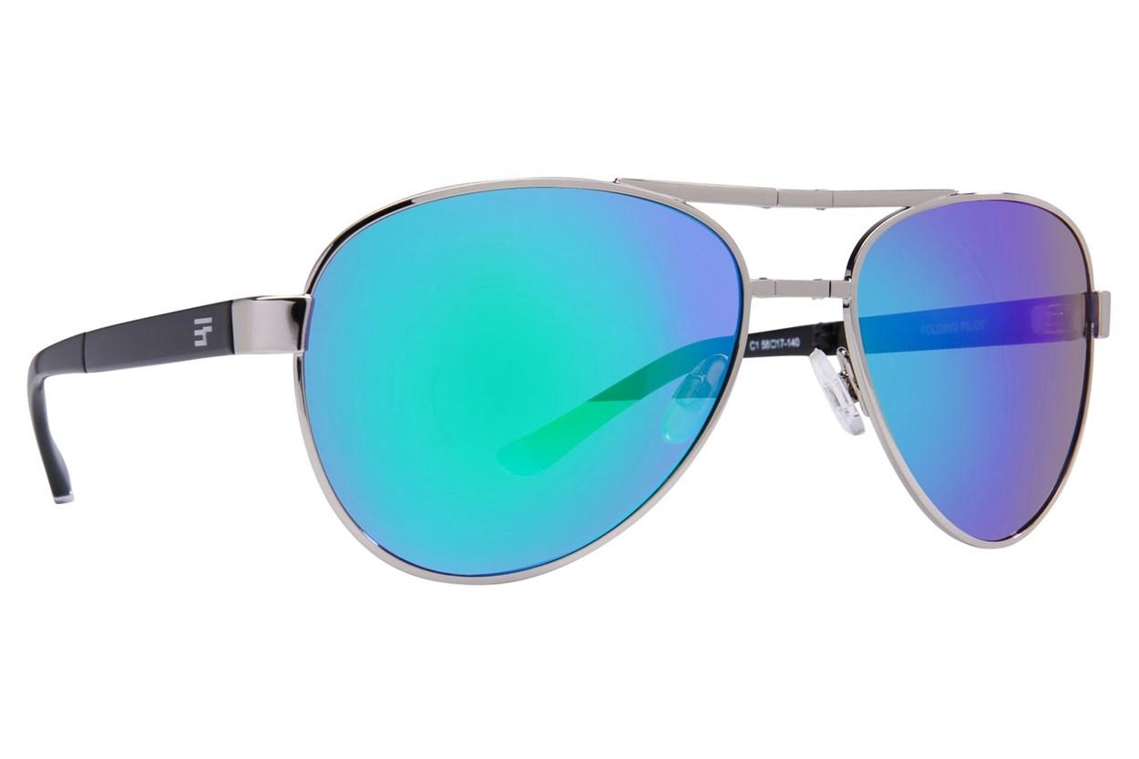 Eyefolds The Pilot Silver Sunglasses