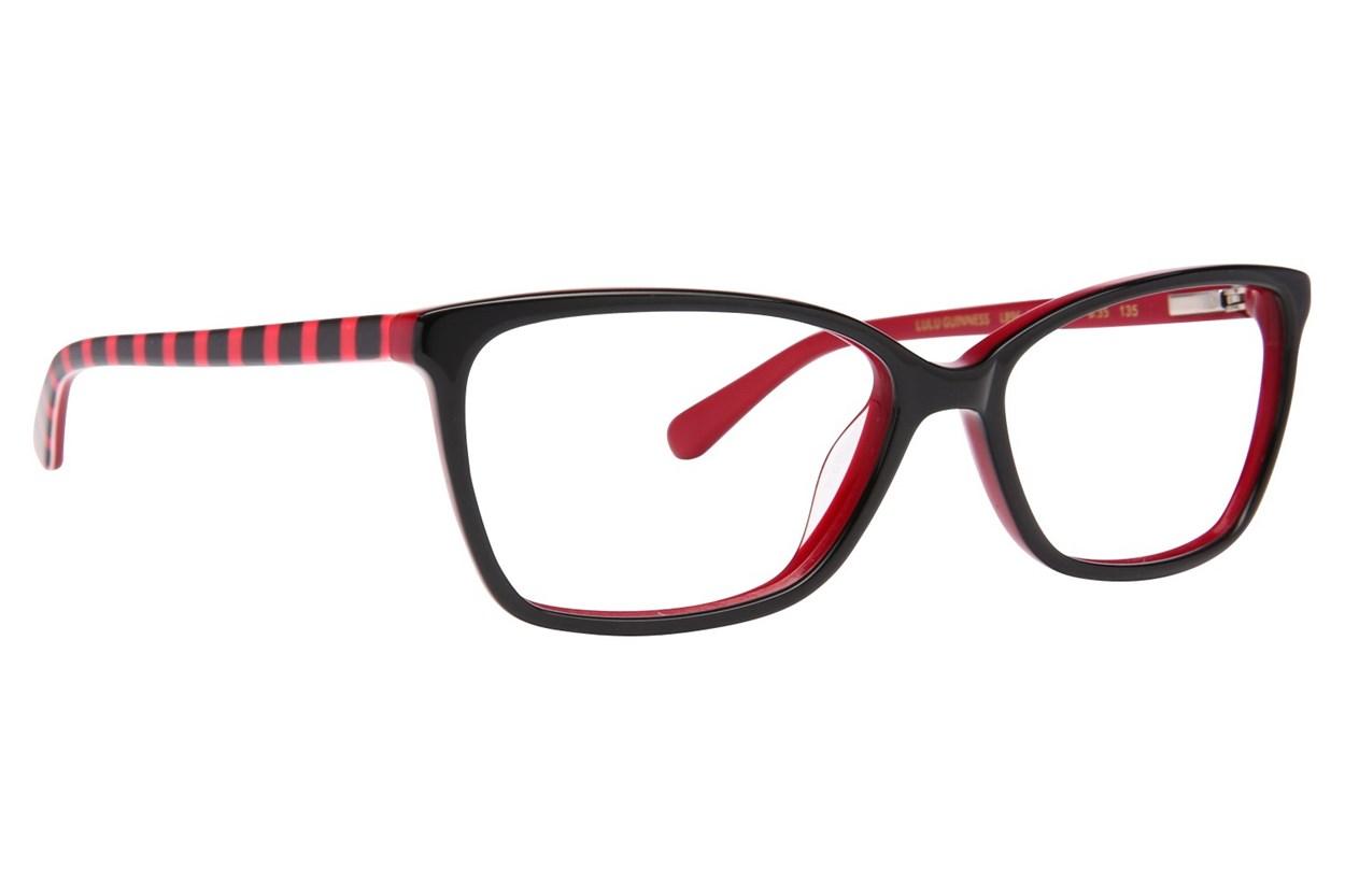 Lulu Guinness L896 Black Eyeglasses