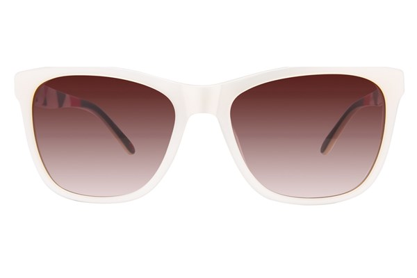 Lulu Guinness L137 White Sunglasses