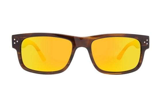 Randy Jackson RJRU S925P Brown Sunglasses