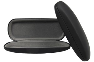 Click to swap image to alternate 1 - Opti-Pak Matte Clamshell Eyeglass Case Black GlassesCases