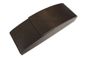 Opti-Pak Aluminum Eyeglass Case Brown