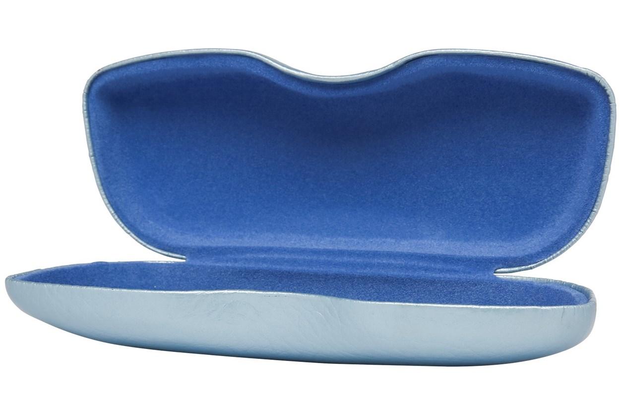 Alternate Image 1 - Opti-Pak Metallic Clamshell Eyeglass Case Blue GlassesCases